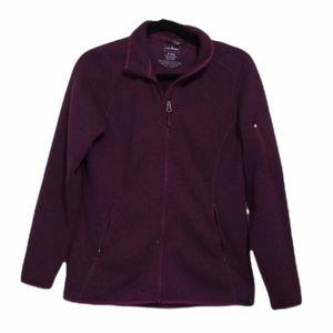 L.L. Bean Purple Plum Full Zip Fleece